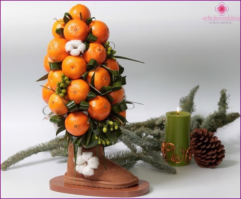 DIY tangerine tree