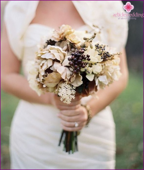 Flowers for a coffee wedding