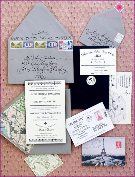 France style invitations