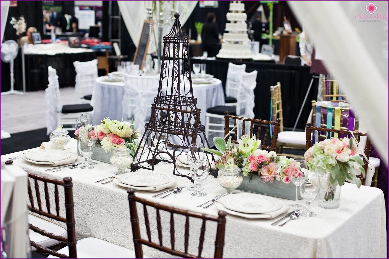 France style wedding decor