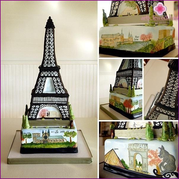 France style wedding cake
