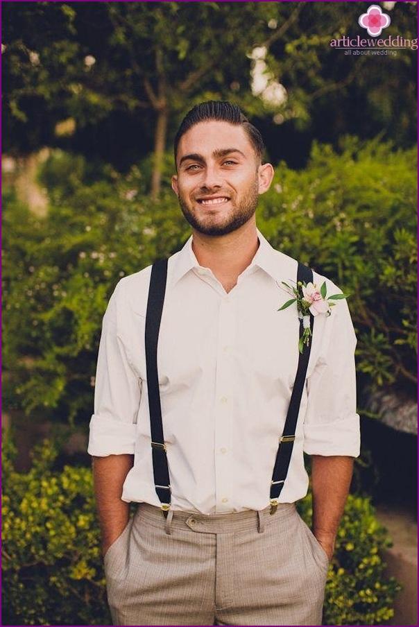 Groom-style suspenders