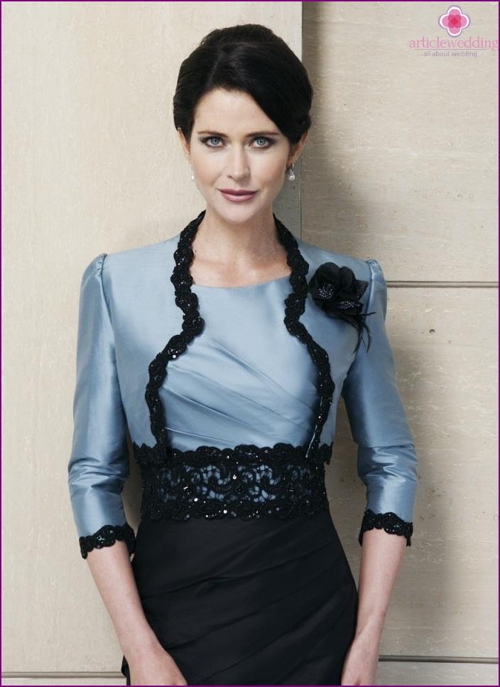Black and blue suit