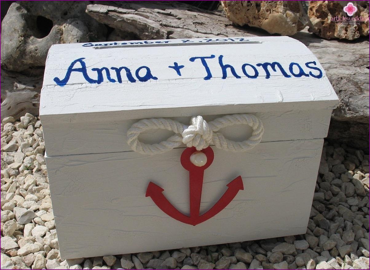 Marine wedding chest