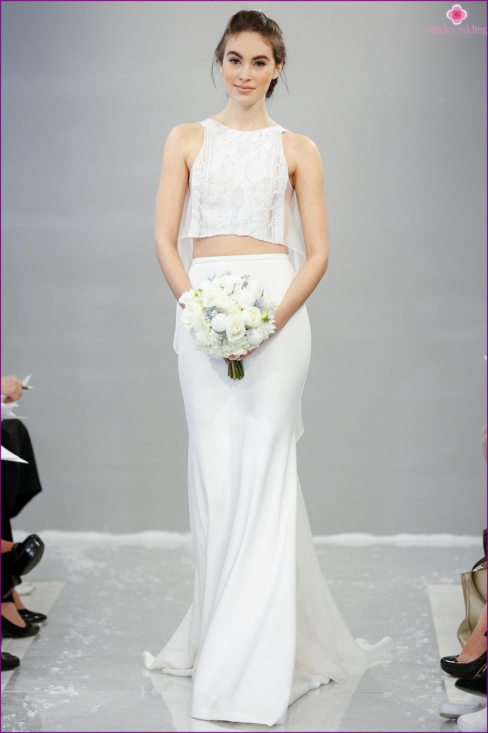 Seperate wedding dress