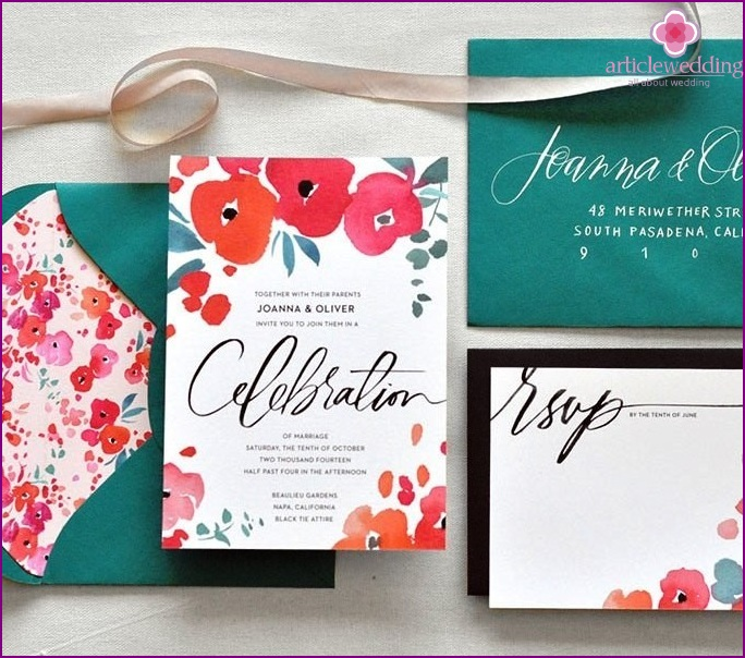 Bold colors for invitations.