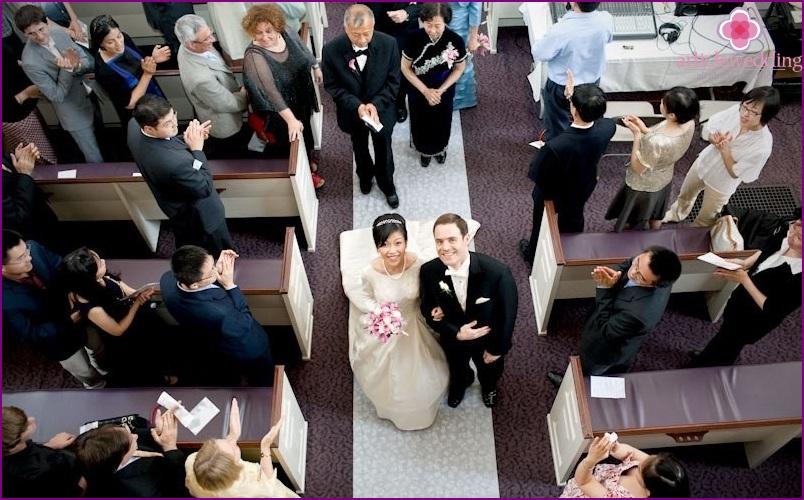 Wedding aerial photography