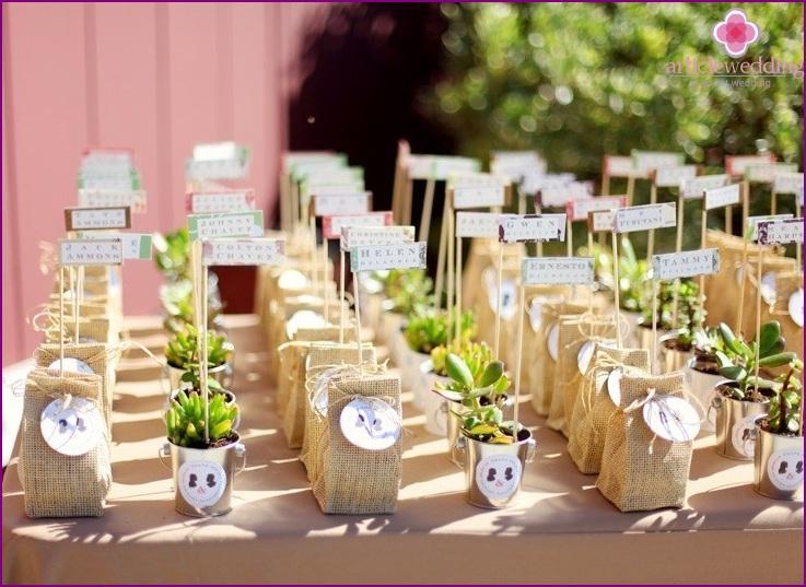 Succulents Banquet Cards