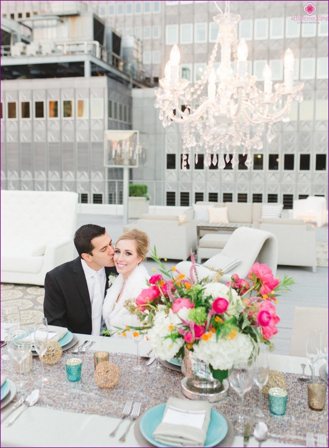 Rooftop banquet