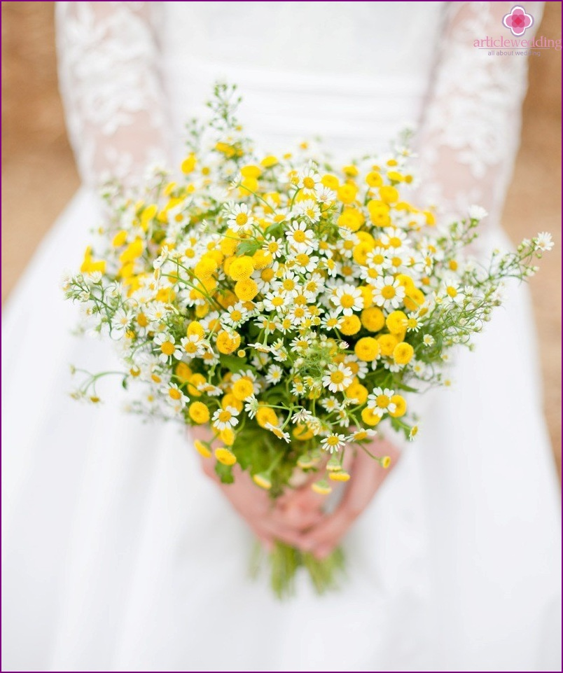 Summer bouquet of the bride