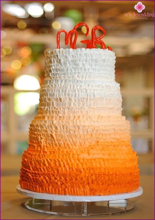 Corrugated cake