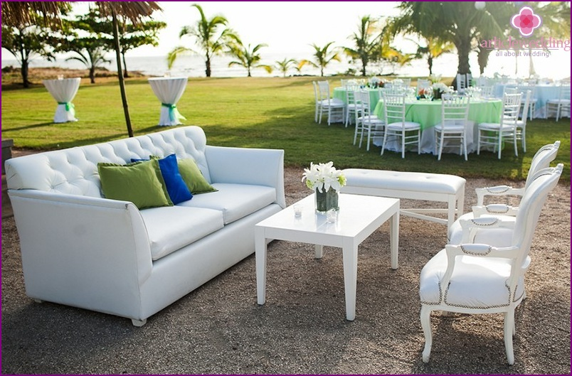 Lounge at the wedding