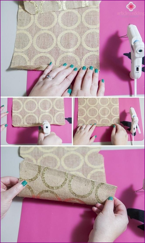 Glue the folds