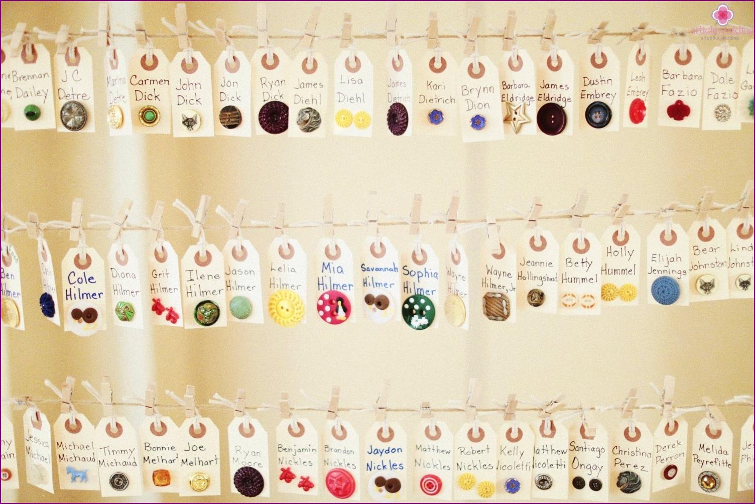 Button Banquet Cards