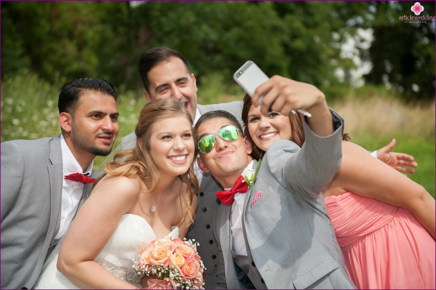 Selfie at the wedding