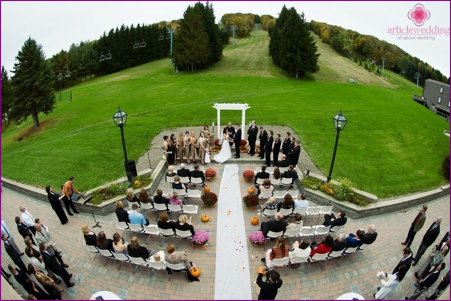 Wedding aerial photography