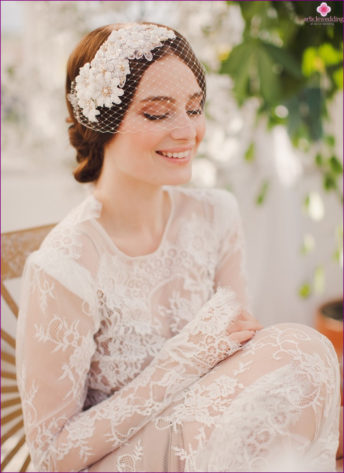 Veil - a stylish accessory for the bride