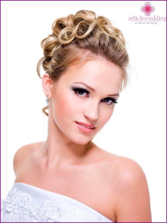 Spring color bride makeup