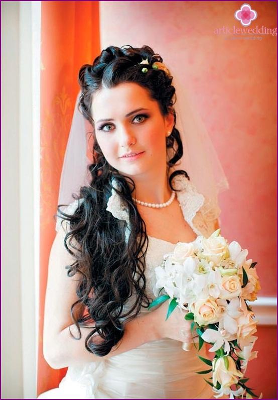 Winter makeup bride color