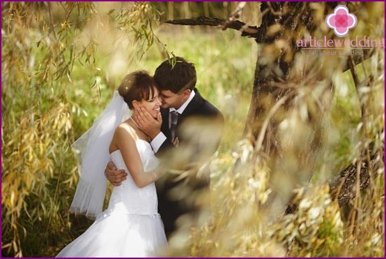 Wedding photography in the forest
