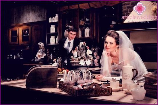 Coffee Shop Wedding Photography