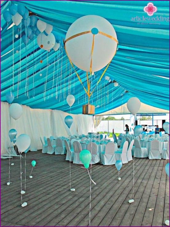Camping style wedding