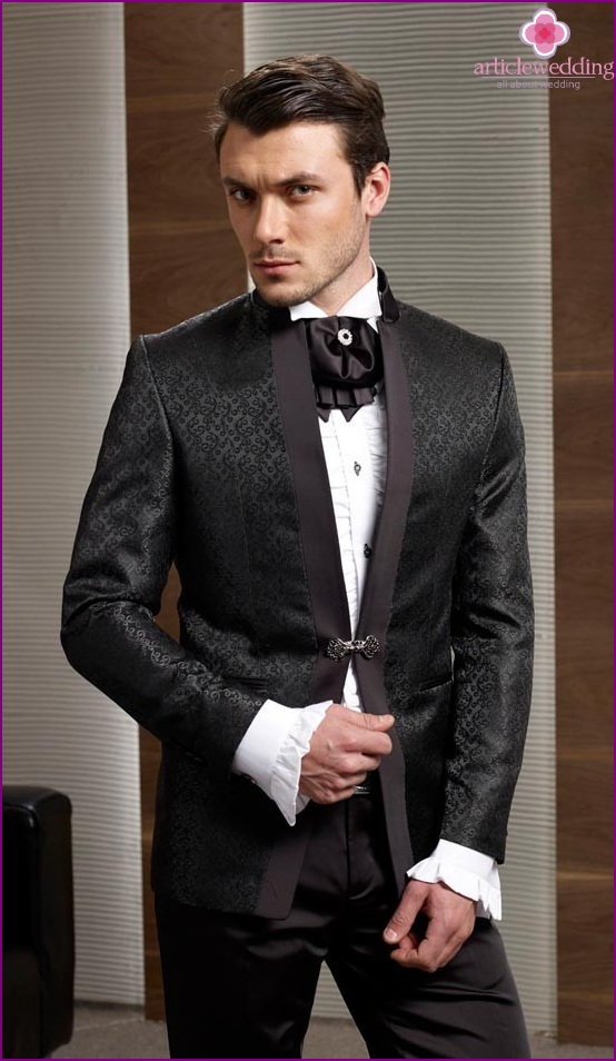 Fancy suit groom