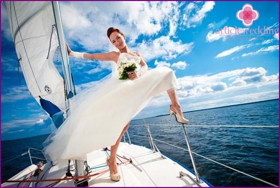 Wedding trip on a luxury yacht