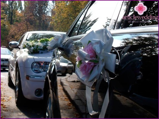Car decoration with flowers