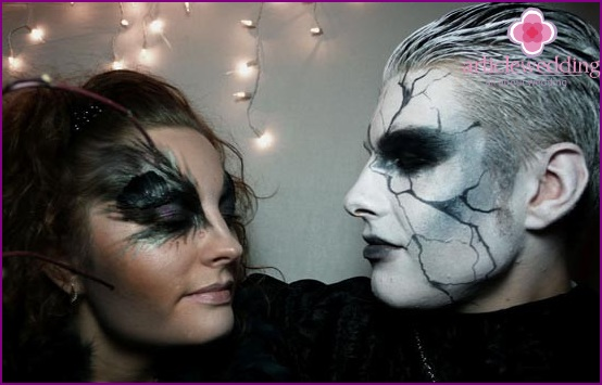 Example makeup bride and groom