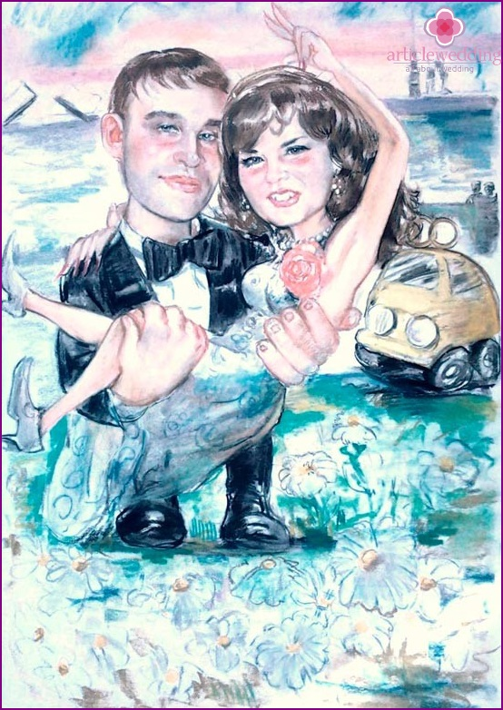 Cartoon from the wedding