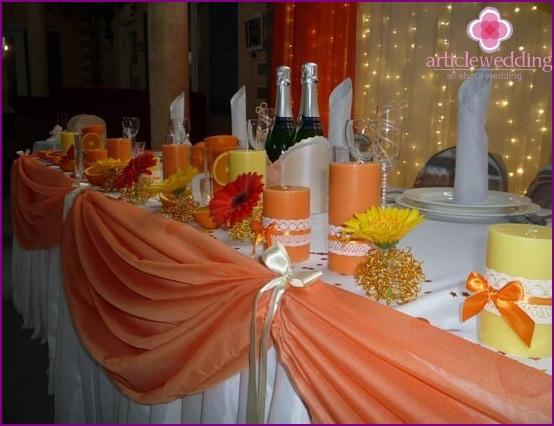 Saftiges orange Thema Design