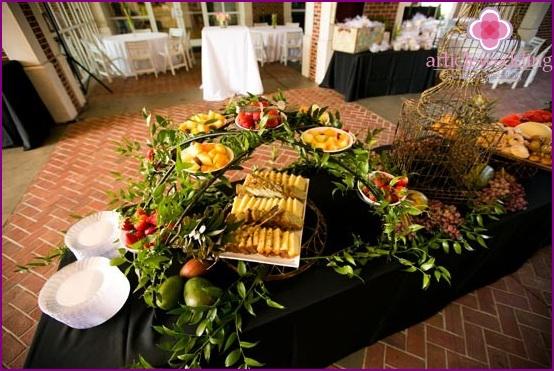 Fruchtige Hochzeitsdekoration