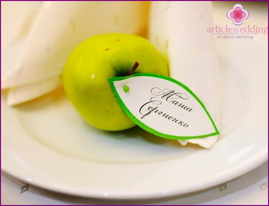 Guest seating fruit cards