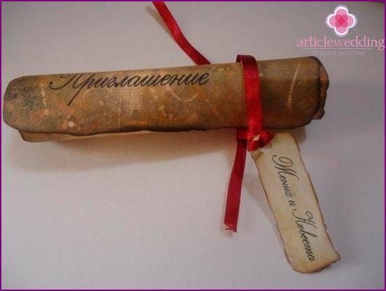 Invitation Scroll