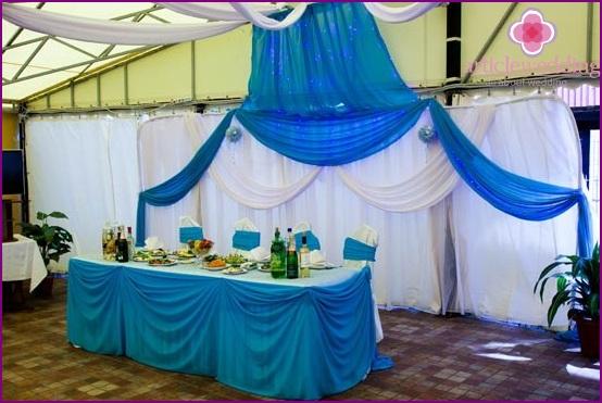 Wedding Hall Decoration in Blue