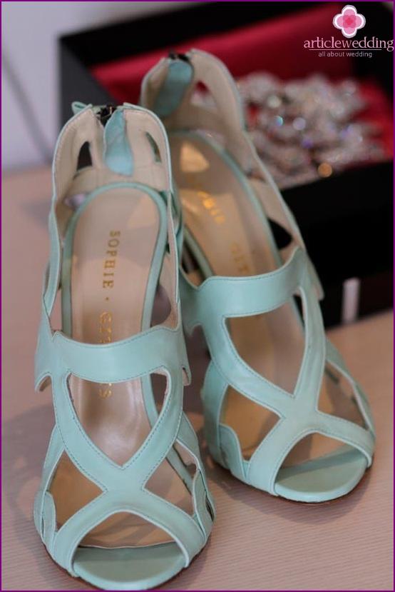 Beautiful mint color sandals