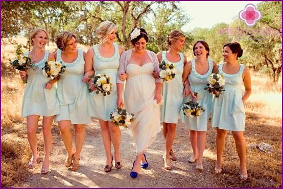 Mint Bridesmaids Wedding Dresses