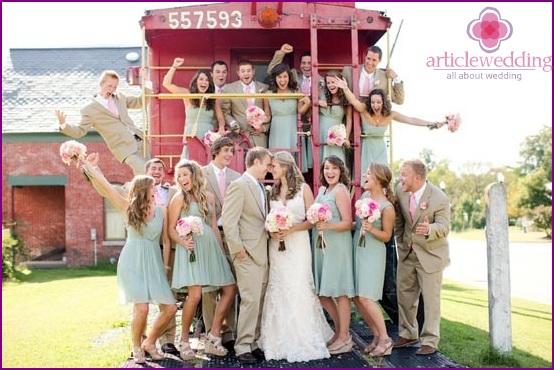 Delicate Mint Bridesmaids Dresses