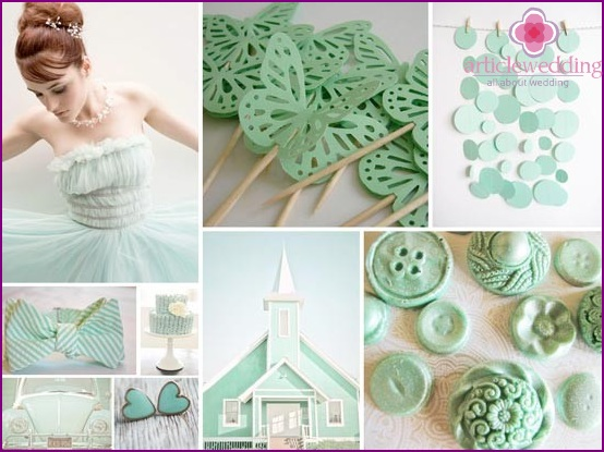 Funny mint wedding accessories