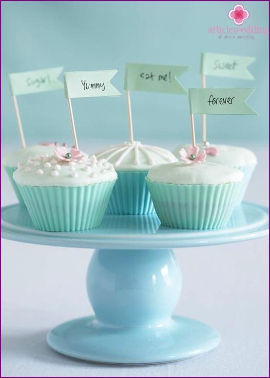 Mint Wedding Cupcakes
