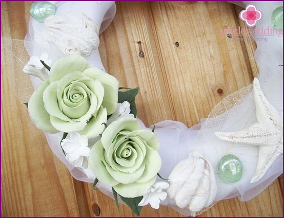 The combination of mint, green and white