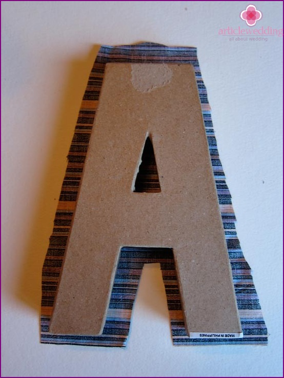 Cut fabric for letter