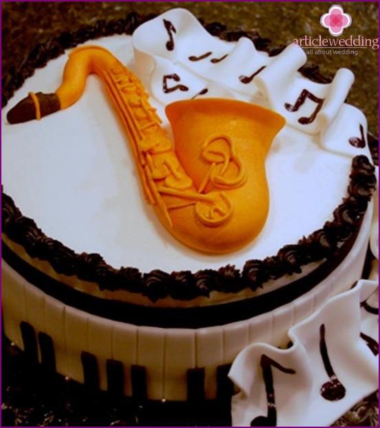 Jazz Themed Wedding Cake