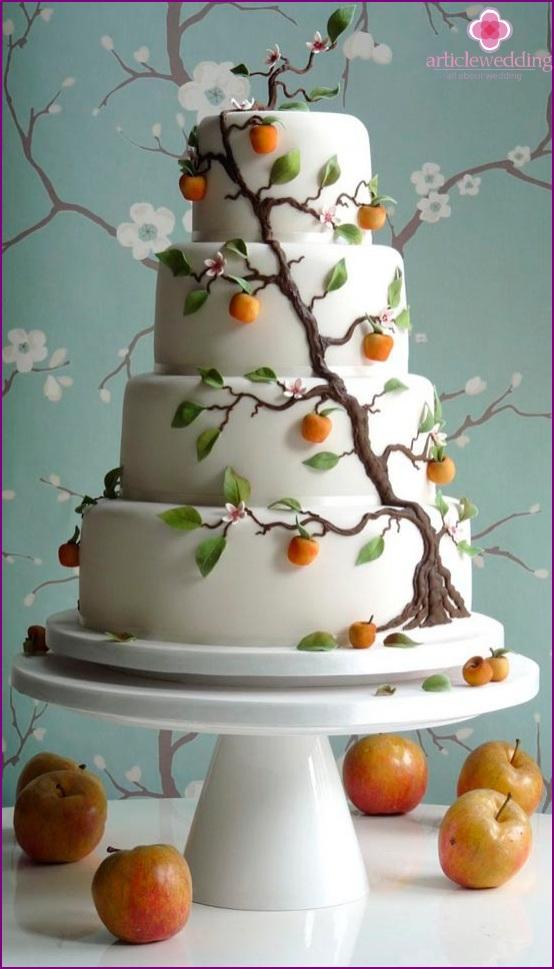 Apple wedding cake