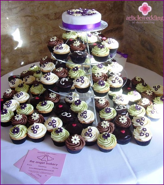 Wedding cupcakes and their design