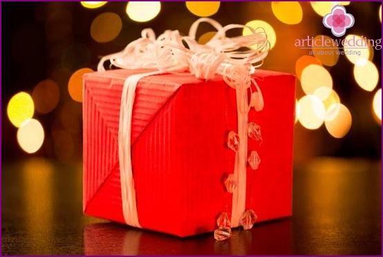 Gift in red packaging