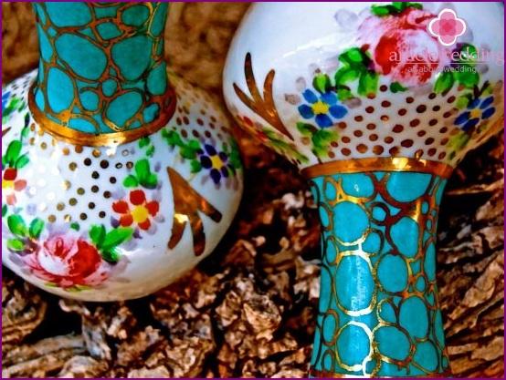 Vasen für Geld bei einer Hochzeit