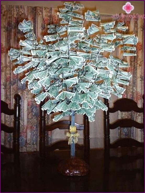 Geldbaum bei der Hochzeit
