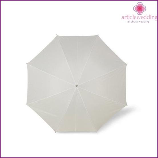 White umbrella for a wedding accessory